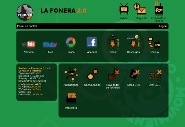 Fonera 2.0 Dashboard