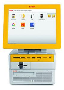 Kiosko Kodak que integra redes sociales