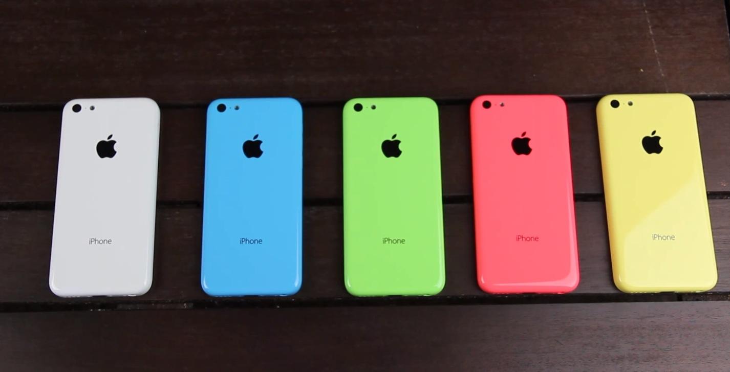 faed1248957 iPhone 5C de varios colores, en vídeo