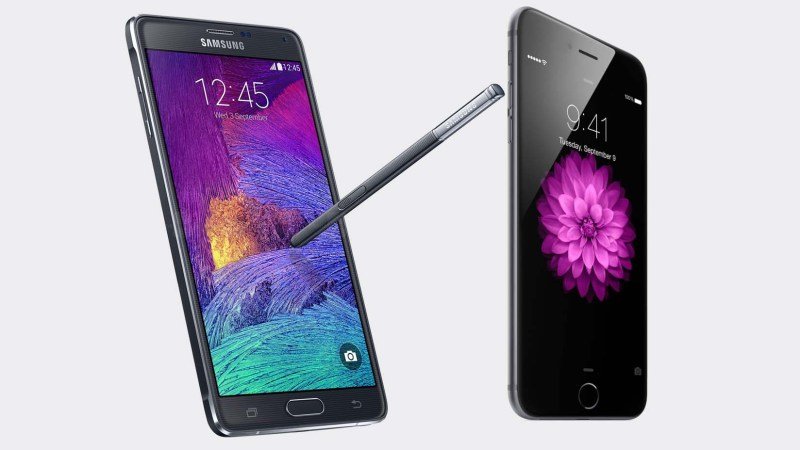 iPhone 6 Plus vs. Samsung Galaxy Note 4, Nokia Lumia 1520 y LG G Pro 2. Experiencia sobre hardware