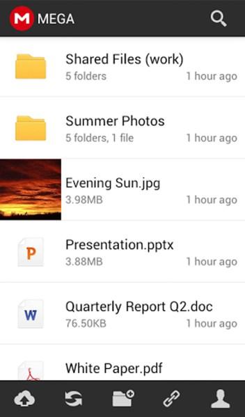 MEGA llegó para dispositivos Android Mega-para-android-app-352x600