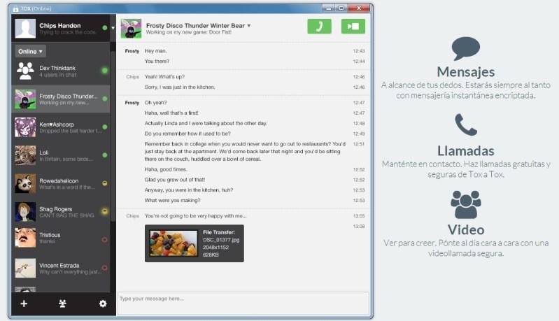 TOX alternativas seguras a Skype