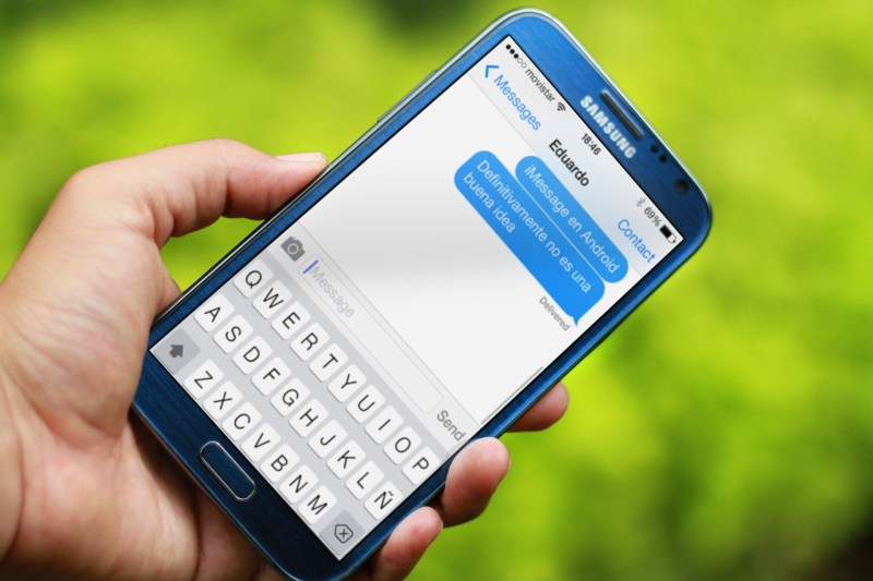 No descargues iMessage para Android