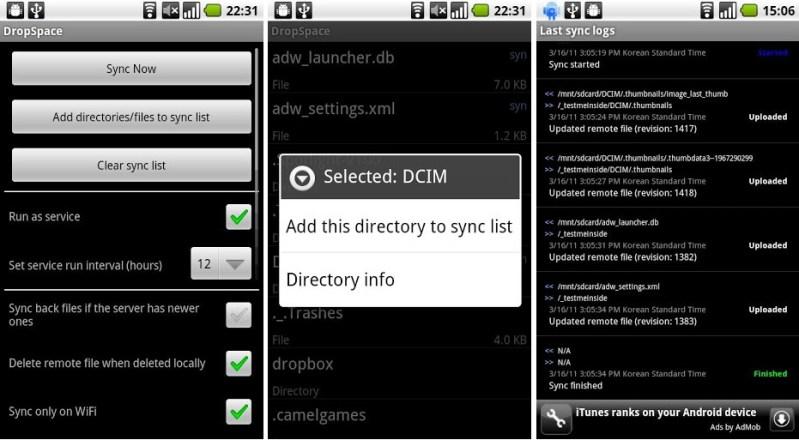 DropSpace - copias de seguridad en Android