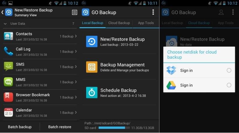 GO Backup Restore Pro - copias de seguridad en android