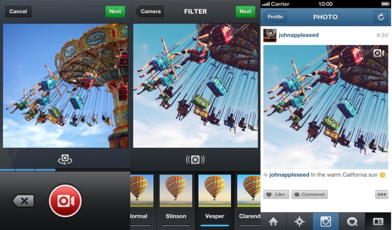 vídeo en instagram - proceso de grabacion y edicion