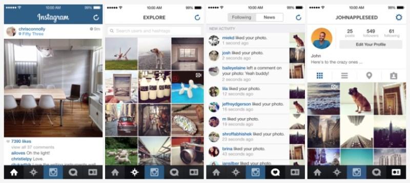 Instagram para iOS 7