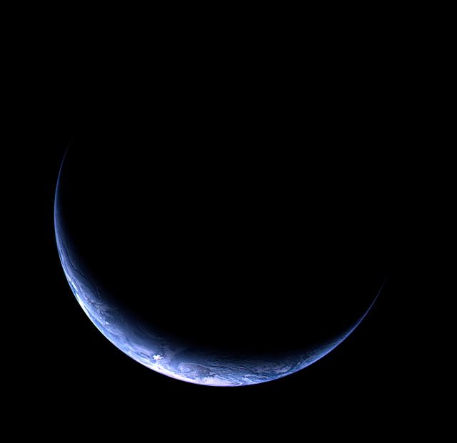 La Tierra desde Rosetta