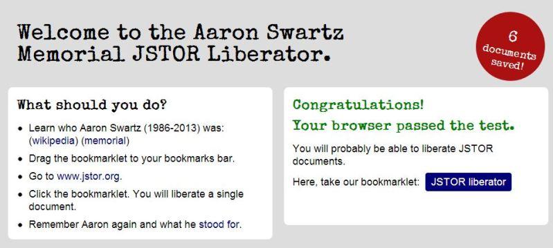 Aaron Swartz Memorial JSTOR Liberator