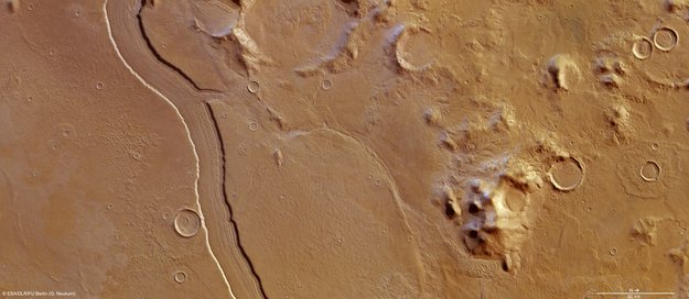 ESA muestra lo que parece ser un antiguo río en Marte