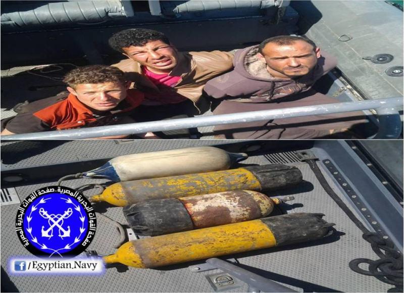 Detenidos por la Marina Egipcia - Saboteadores Cable Submarino