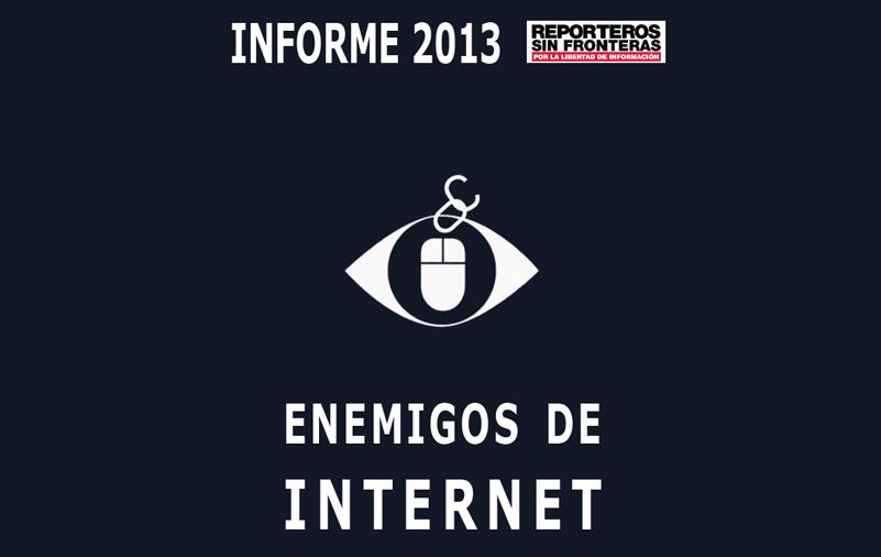 Los enemigos de Internet, según Reporteros Sin Fronteras