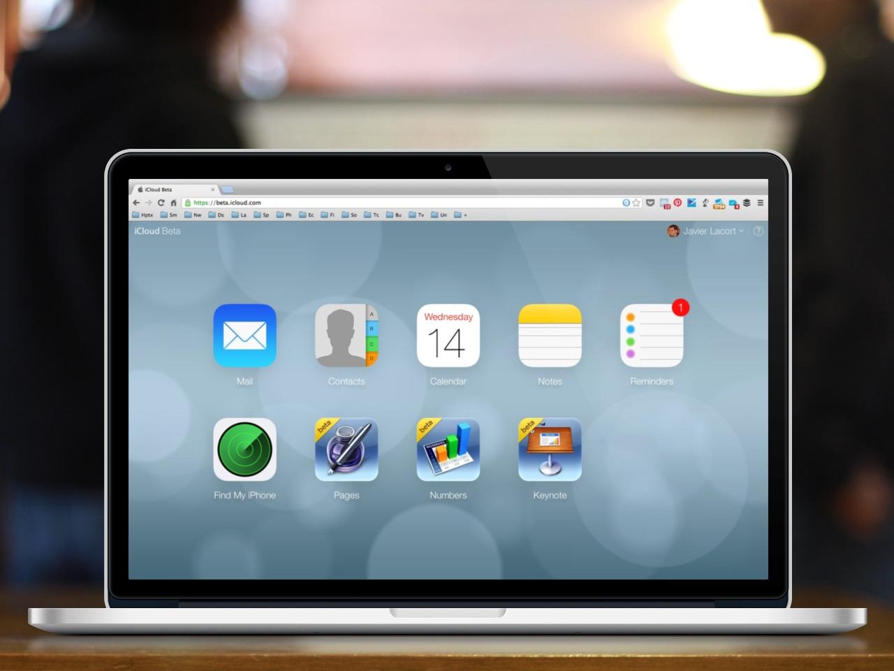 Nuevo iCloud pantalla principal - rediseño estilo ios 7
