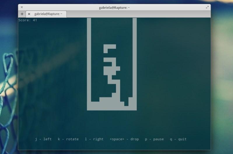 tetris juegos en la terminal