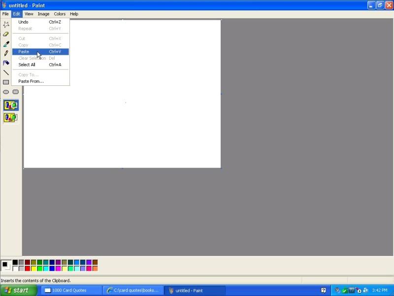windows xp - paint