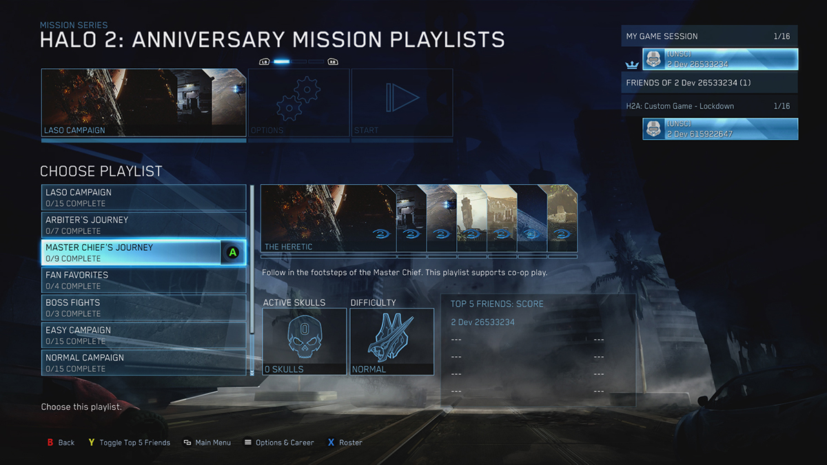 Halo: The Master Chief Collection Playlist