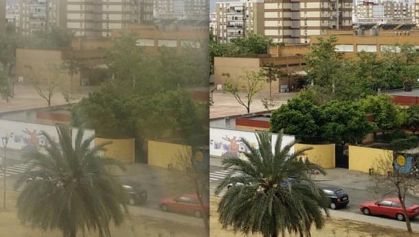 Revisa tu carpeta de fotos de WhatsApp, verás muchas fotos como la de la izquierda. A la derecha, la misma toma con la lente limpia.