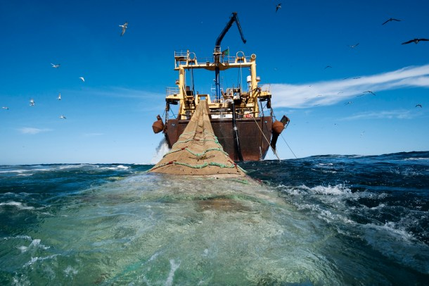 El Johanna Maria pescando en la costa Africana. Fotos de Christian Åslund