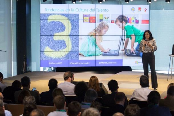 Marta Díaz Barrera - El Día del Emprendedor en Microsoft Ibérica