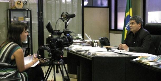 Eva Belmonte durante una entrevista en Río de Janeiro. Imagen: Anne Vigna