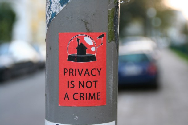 Privacy is not a crime, de Jürgen Telkmann, bajo licencia CC BY NC 2.0.