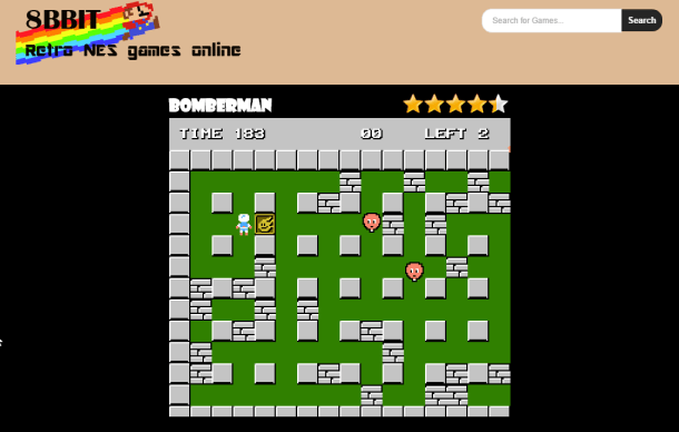 Play Bomberman for nes online _ 8bbit The best Place to Play all your favorite R