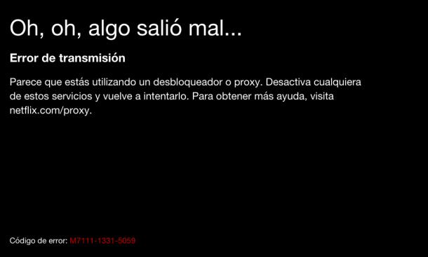 error M7111-1331-5059