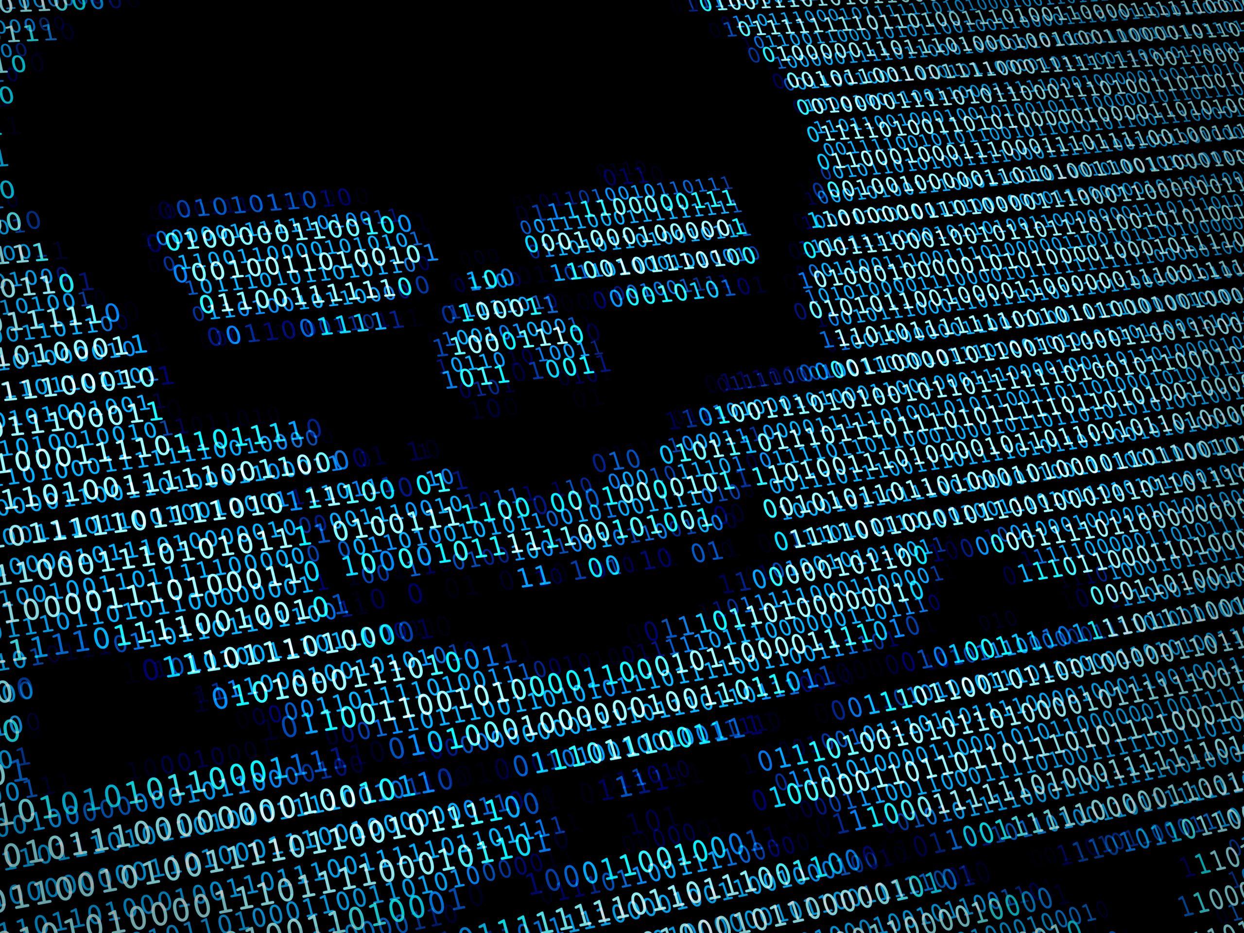 Imagen de una pantalla afectada por un virus informático