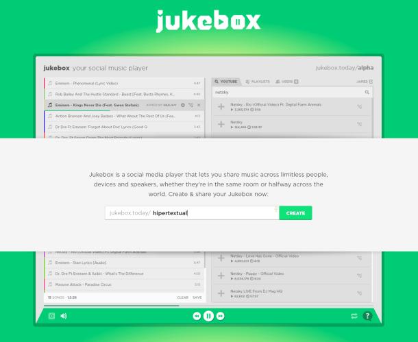 jukebox reproductor de música