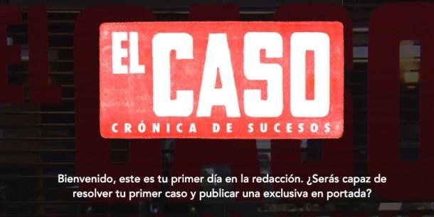 Para dar a conocer la serie El Caso, RTVE creó este juego interactivo.