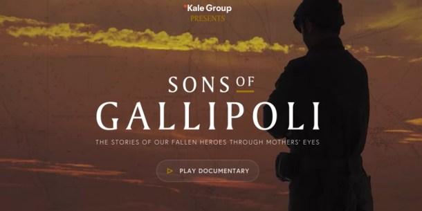 Sons of Gallipoli, un documental interactivo sobre la cruel batalla de la Primera Guerra Mundial.
