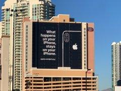Cartel de Apple sobre privacidad en Las Vegas