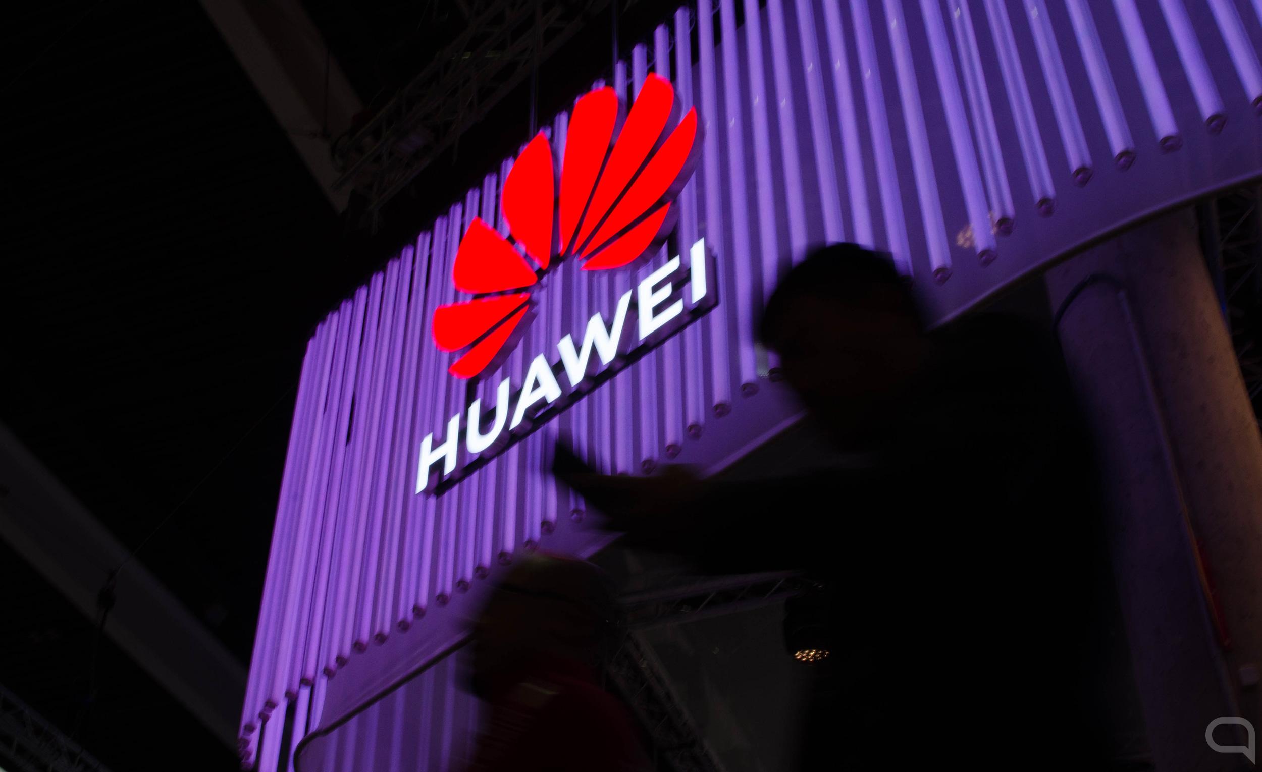 Luminoso de Huawei durante el MWC 2019