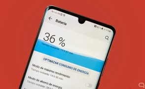 Sección de batería en el software del Huawei P30 Pro