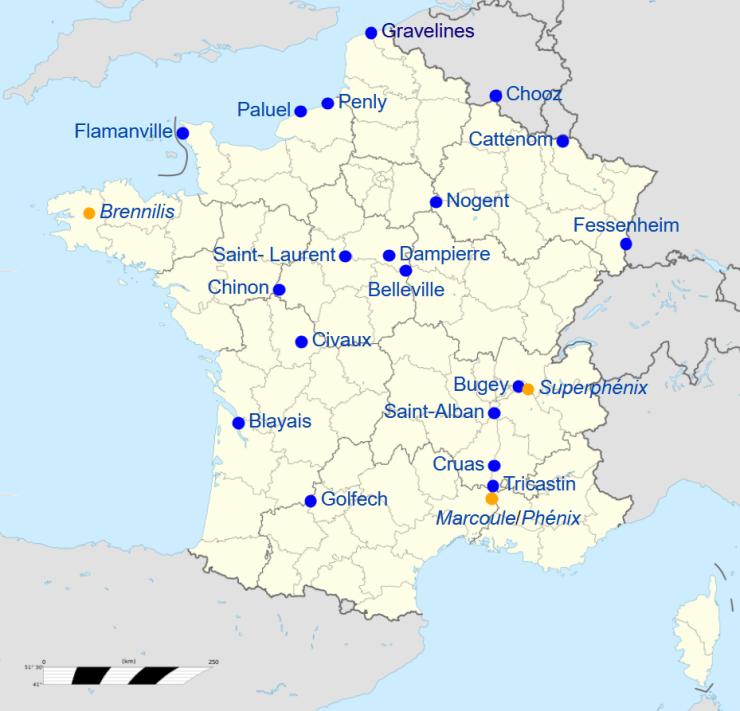 Centrales nucleares en Francia