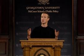 Mark Zuckerberg en la Universidad de Georgetown