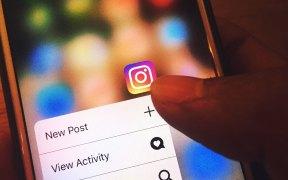 Aplicación de Instagram en un iPhone