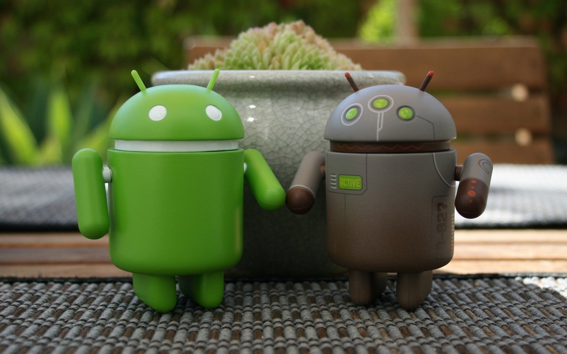 Android verde gris